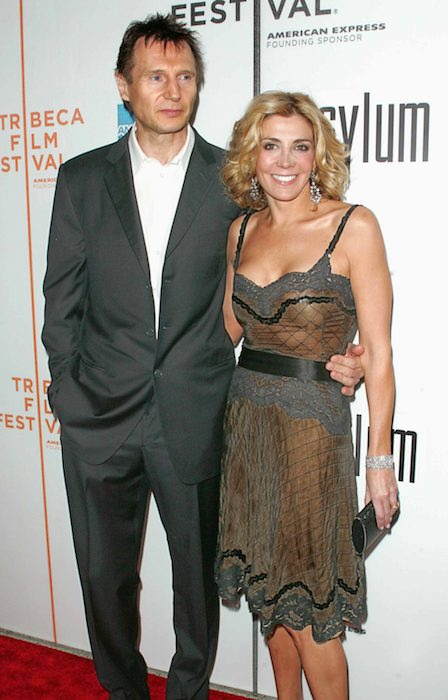 Natasha Richardson and Liam Neeson at The New York premiere of ASYLUM.