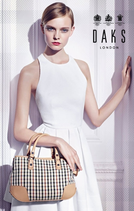 Nimue Smit posing for Daks London.