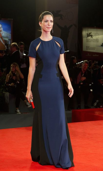 "Rebecca Hall poses for photographers during the red carpet for the film ""A Promise."""