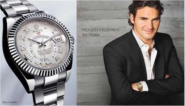 Roger Federer - brand ambassador for Rolex