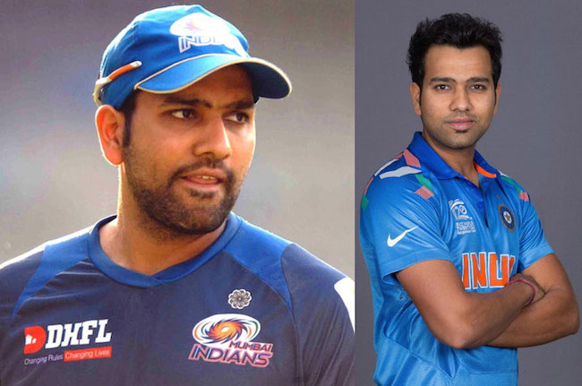 Rohit Sharma before and after weight loss.