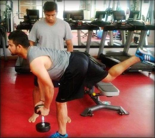 Suresh Raina gym workout