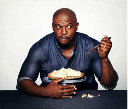 Terry Crews eating his diet