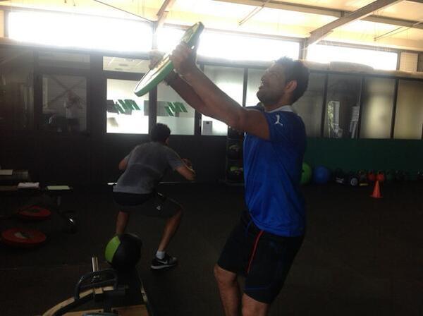Yuvraj Singh shoulder workout.