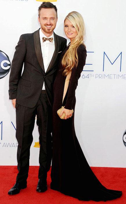 Aaron Paul and Lauren Parsekian.