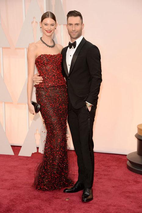 Adam and Behati at Oscars