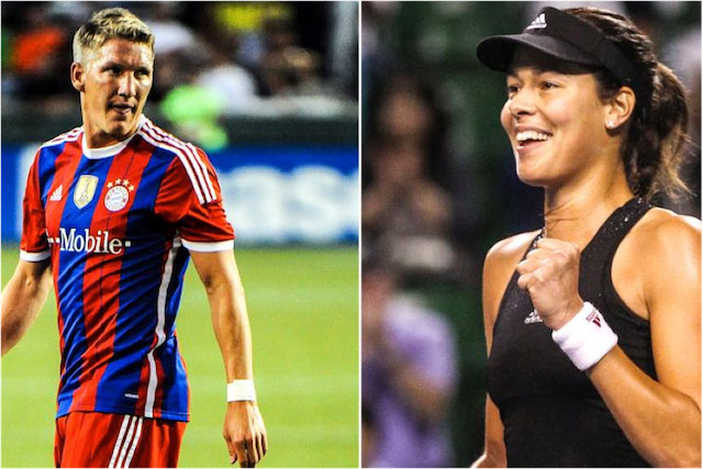 Bastian Schweinsteiger and Ana Ivanovic.
