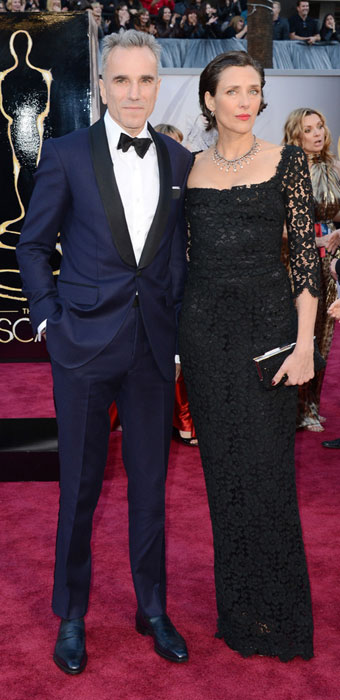 Daniel Day-Lewis with gracious, Wife Rebecca Miller