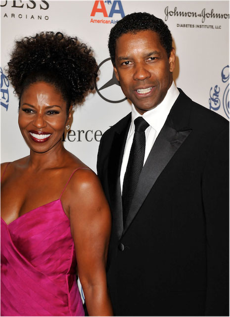 Denzel and Pauletta Washington.