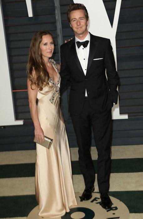 Edward Norton and his wife Shauna Robertson