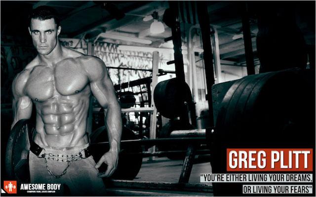 Greg Plitt shredded six pack abs.