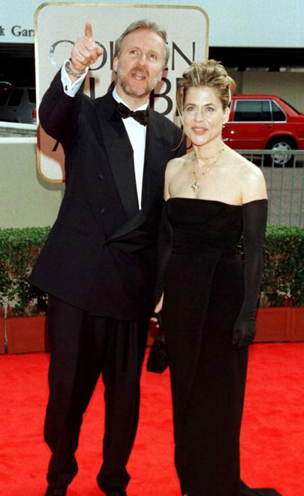 James Cameron and Linda Hamilton