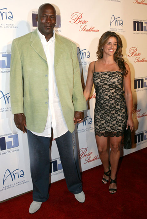 Michael Jordan with wife Yvette
