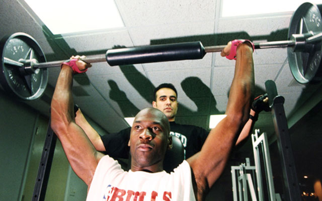 Michael training with Tim