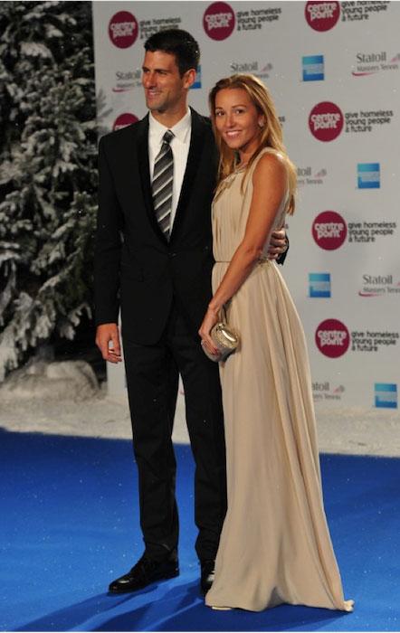 Novak Djokovic and Jelena Ristic.