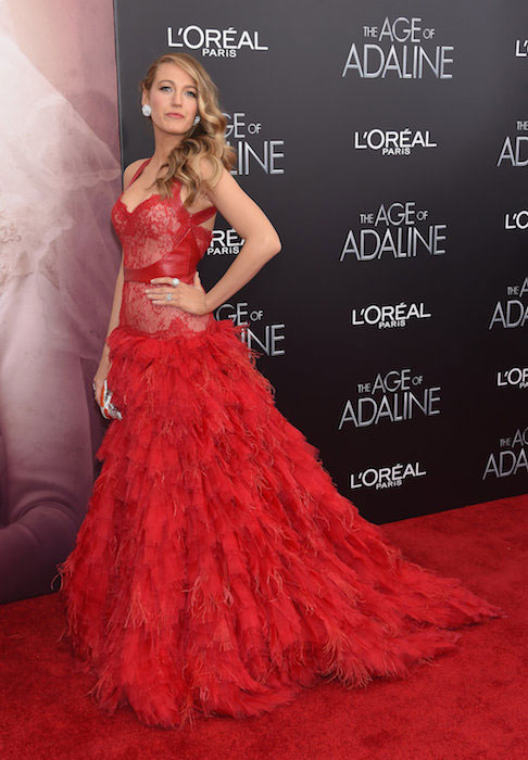 "Blake Lively attends ""The Age of Adaline"" premiere at AMC Loews Lincoln Square 13 theater on April 19, 2015 in New York City."