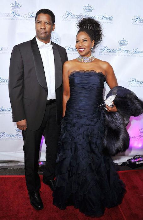 Denzel Washington and Pauletta Pearson Washington