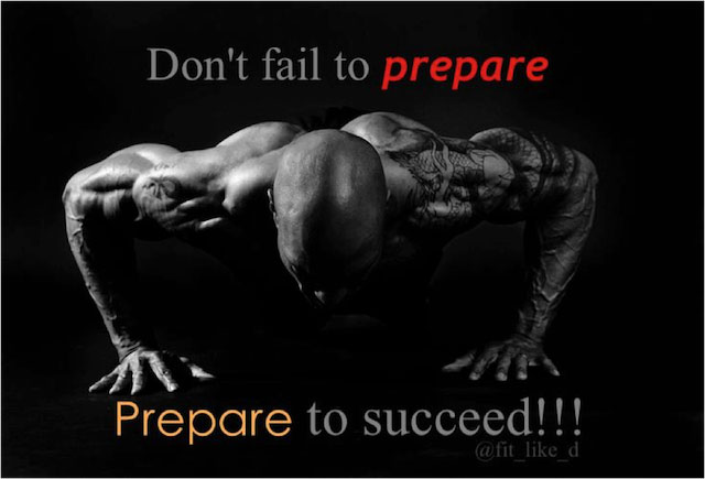 Don't Fail to Prepare