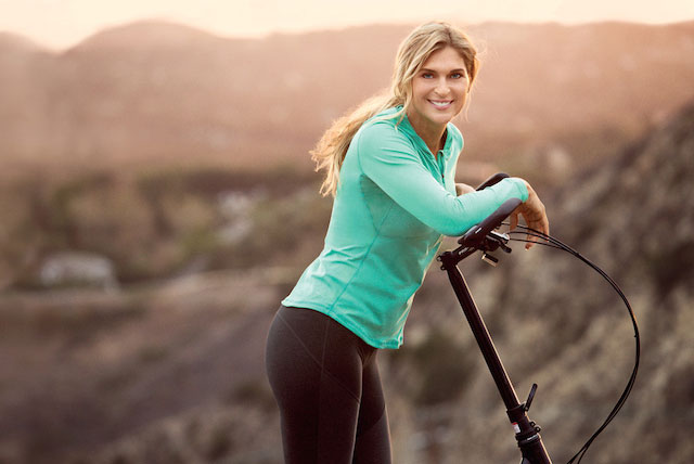 Gabrielle Reece working out outdoors