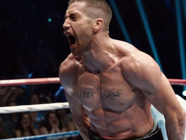 Jake Gyllenhaal in the boxing ring.