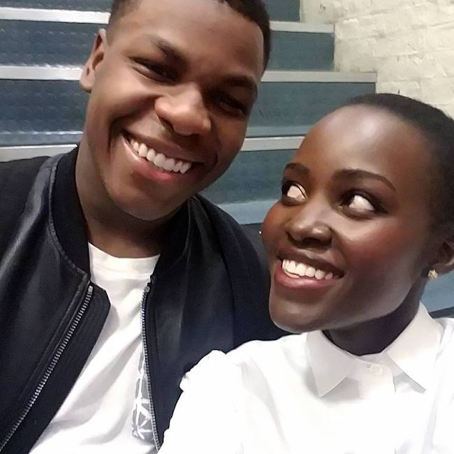 Lupita Nyong'o with John Boyega in May 2017