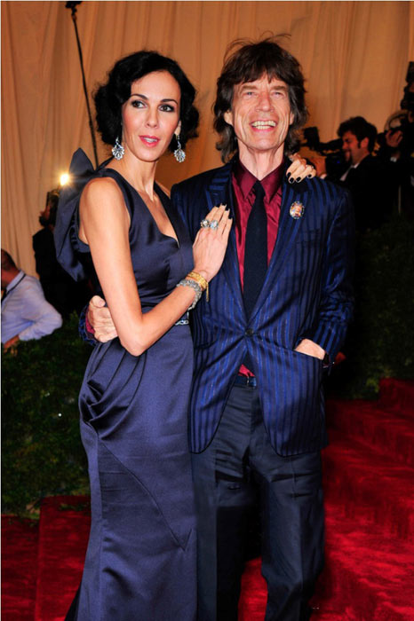 Mick Jagger with L'Wren Scott