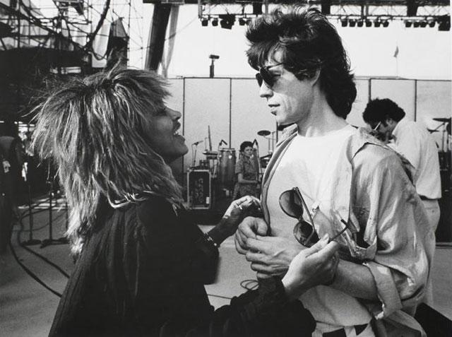 Mick Jagger with Tina Turner