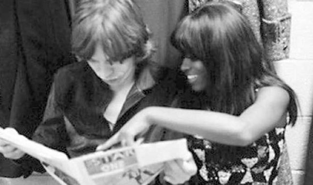 Mick with Claudia