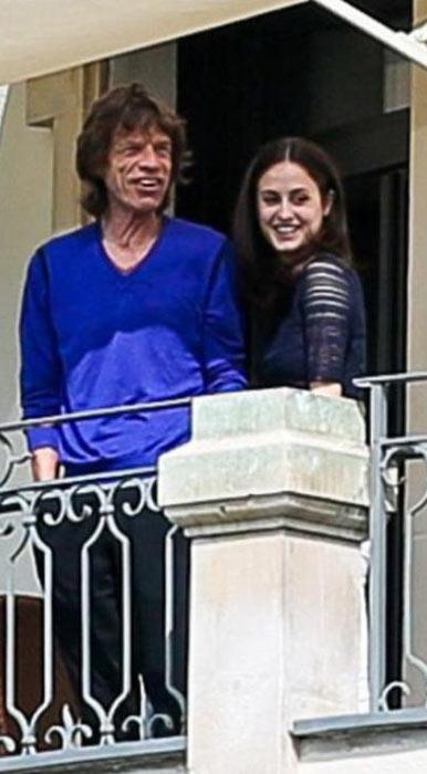 Mick Jagger with Melanie Hamrick