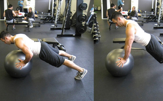 Swiss Ball Push Up