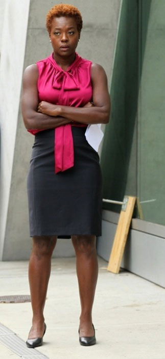 Viola Davis during a casual moment in New York.