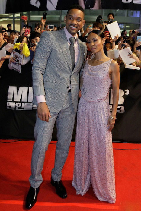 Will Smith and Jada Pinkett Smith on Red Carpet