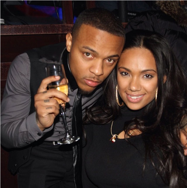 Bow Wow and Erica Mena. The couple got engaged in 2014.