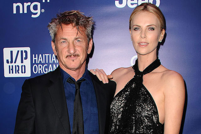 Charlize Theron with her boyfriend Sean Penn