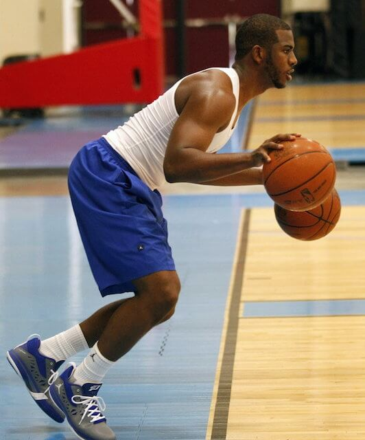 Chris Paul during a practice session