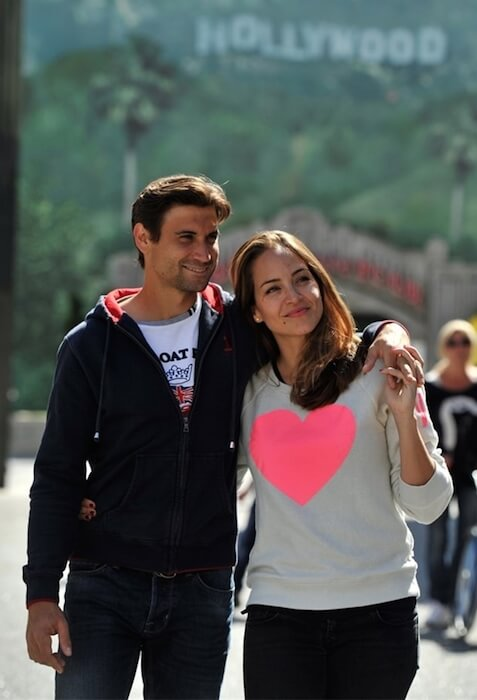 David Ferrer and his sweetheart Marta Tornel