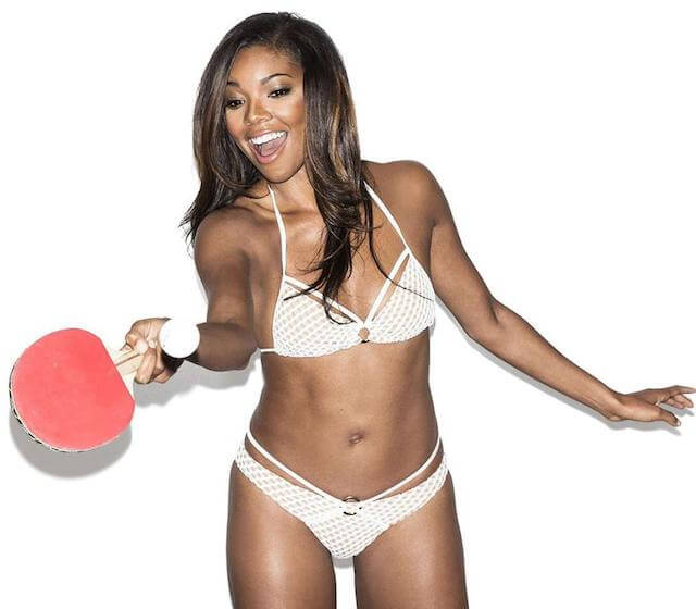 Gabrielle Union posing for Esquire Magazine for their January / February 2015 Issue