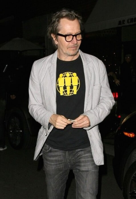 Gary Oldman dines out at Mr Chow Restaurant in Beverly Hills, California on August 20, 2014