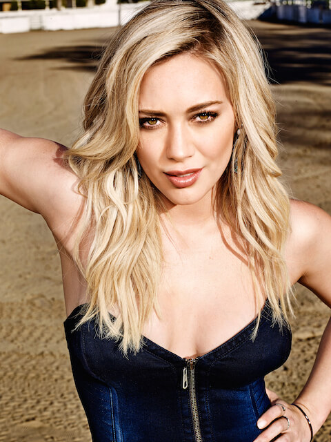 Hilary Duff shows some skin in the May 2015 issue of Shape Magazine