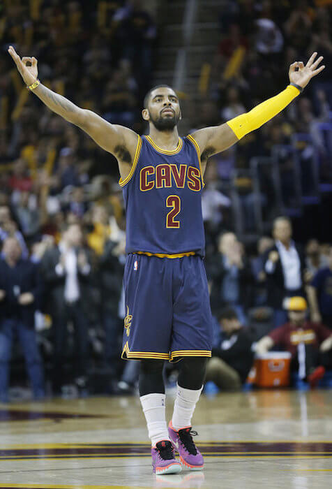 Kyrie Irving after scoring a point