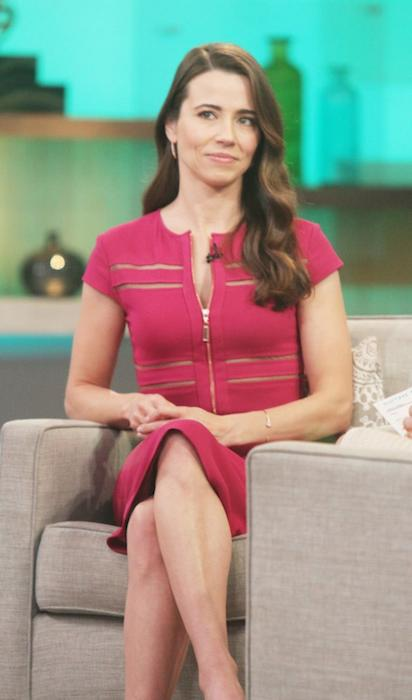 Linda Cardellini at Good Morning America promoting the Netflix series Bloodline on March 27, 2015 in New York City.