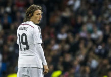 Luka Modric, Real Madrid midfielder, in his first game after injury