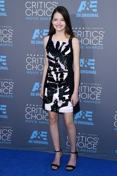 Mackenzie Foy arrives at the 20th Annual Critics Choice Movie Awards held in 2015 at The Palladium in Hollywood