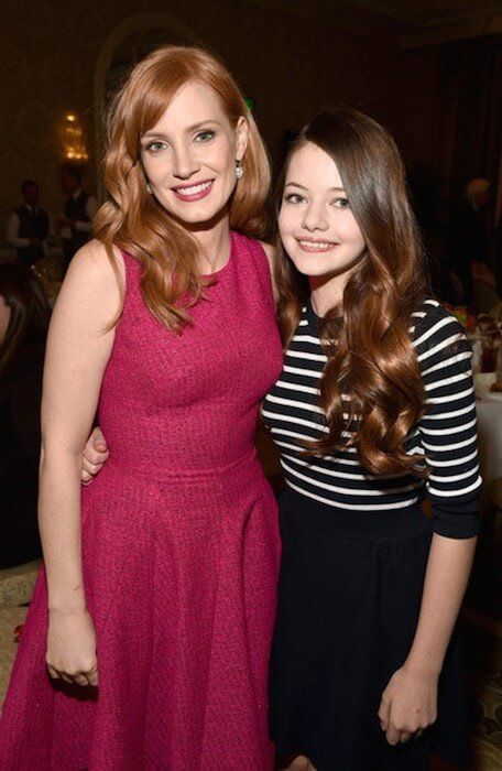 Mackenzie Foy with Jessica Chastain at 15th Annual AFI Awards 2014