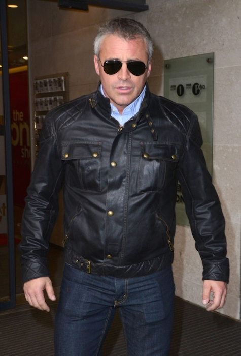 Matt LeBlanc visits the BBC Radio One Studios on April 27, 2015 in London England