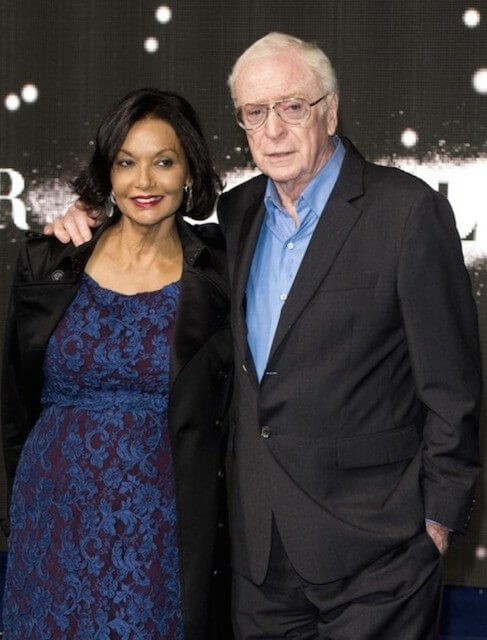 Michael Caine with gracious, Wife Shakira Caine
