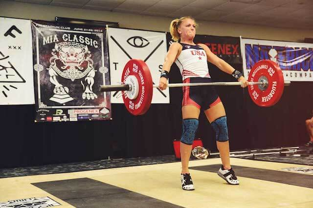 Morgan King weightlifting champion