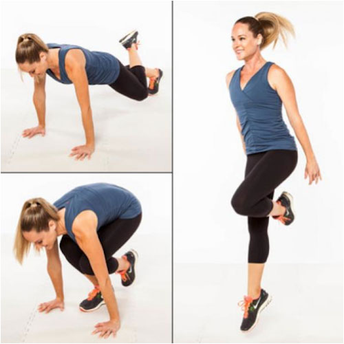 One Legged Burpees