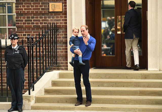 Prince William with his boy, Prince George