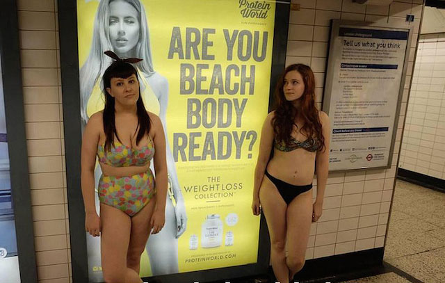 "This is how people are showing outrage to Renee Somerfield's Ad ""Are You Beach Body Ready?"""